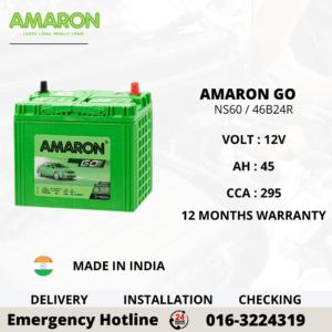 AMARON GO NS60 46B24R CAR BATTERY