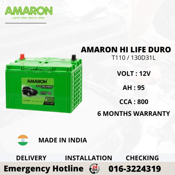 AMARON HI LIFE DURO T110 / 130D31L EFB BATTERY