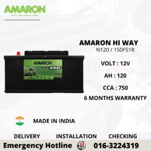 AMARON HI WAY N120 NT150F51R BATTERY