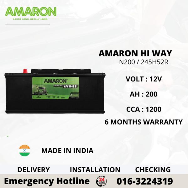 AMARON HI WAY N200 245H52R BATTERY